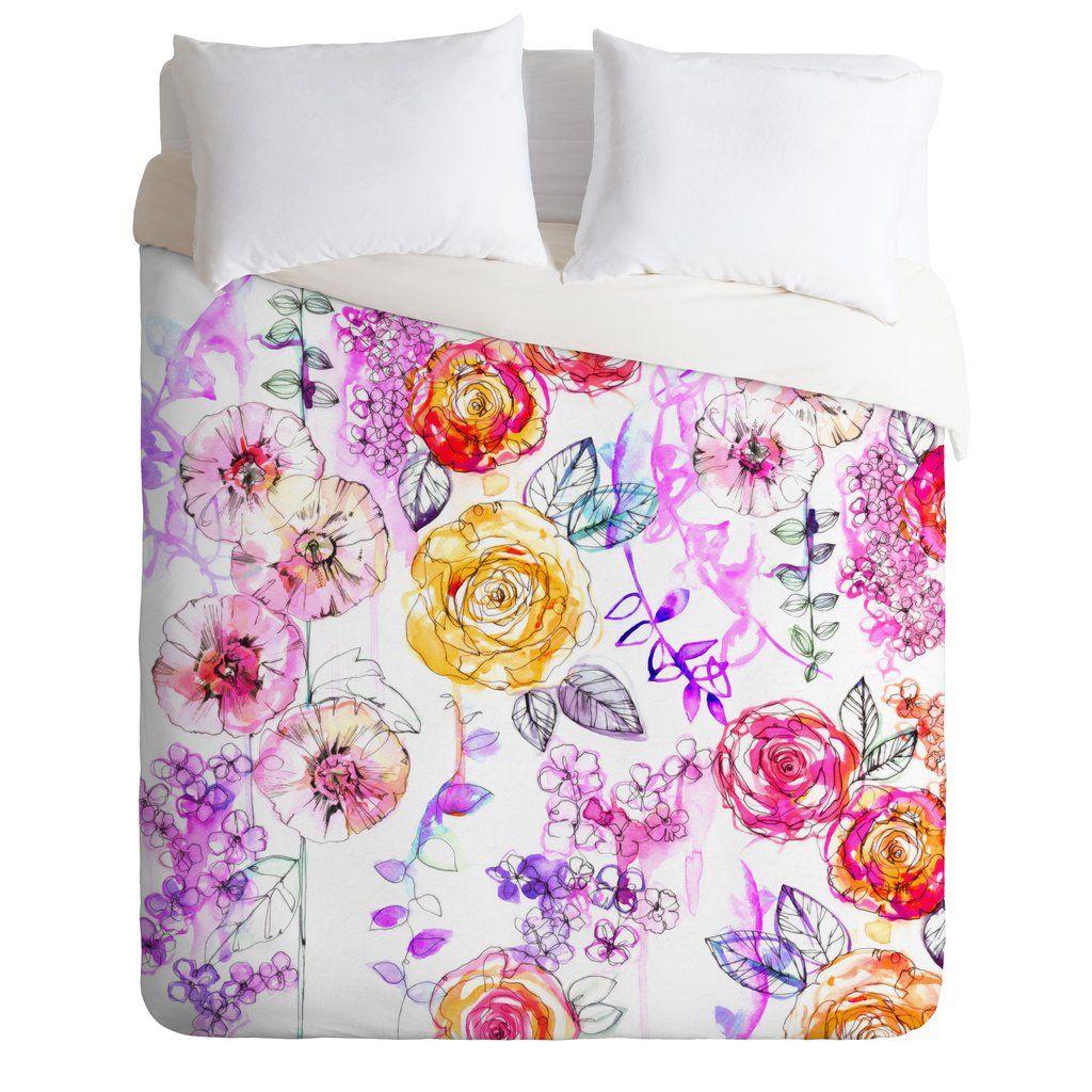 Holly Sharpe Pastel Rose Garden Duvet Cover is part of Rustic Rose garden -