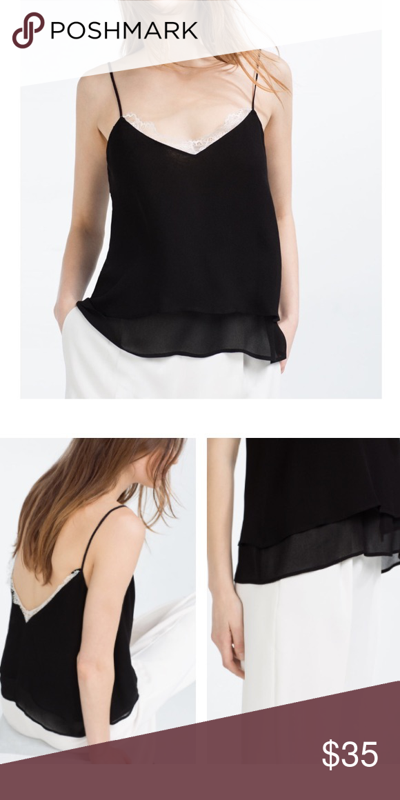 1973cec266f7f 🆕 Listing NWT Zara top NWT Zara camisole top