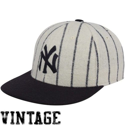 caa6da79a7591 New York Yankees Natural Pinstripe 1921 Throwback Cooperstown Fitted ...