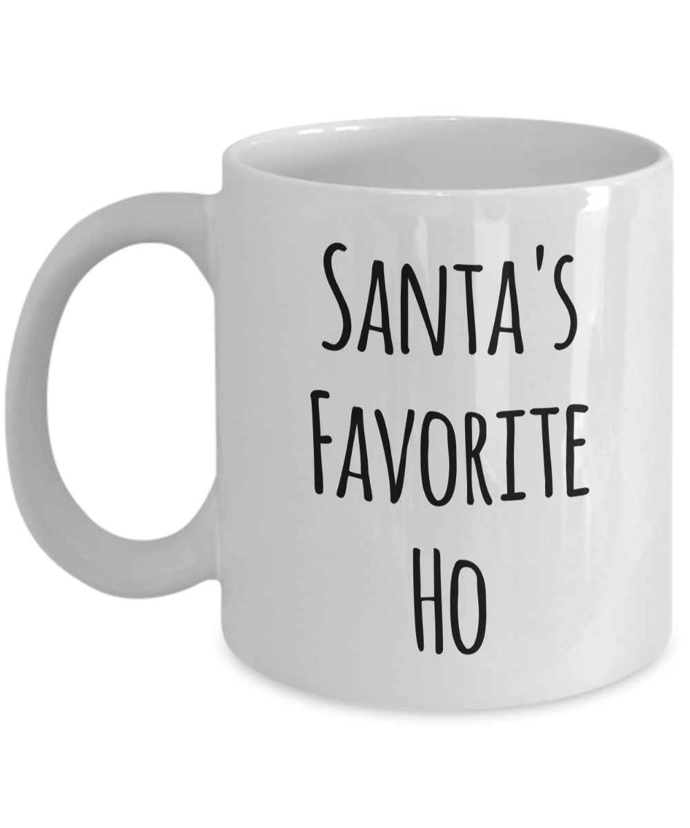 NOVELTY CHRISTMAS SANTA/'S FAVOURITE HO PERSONALISED FUN GIFT MUG