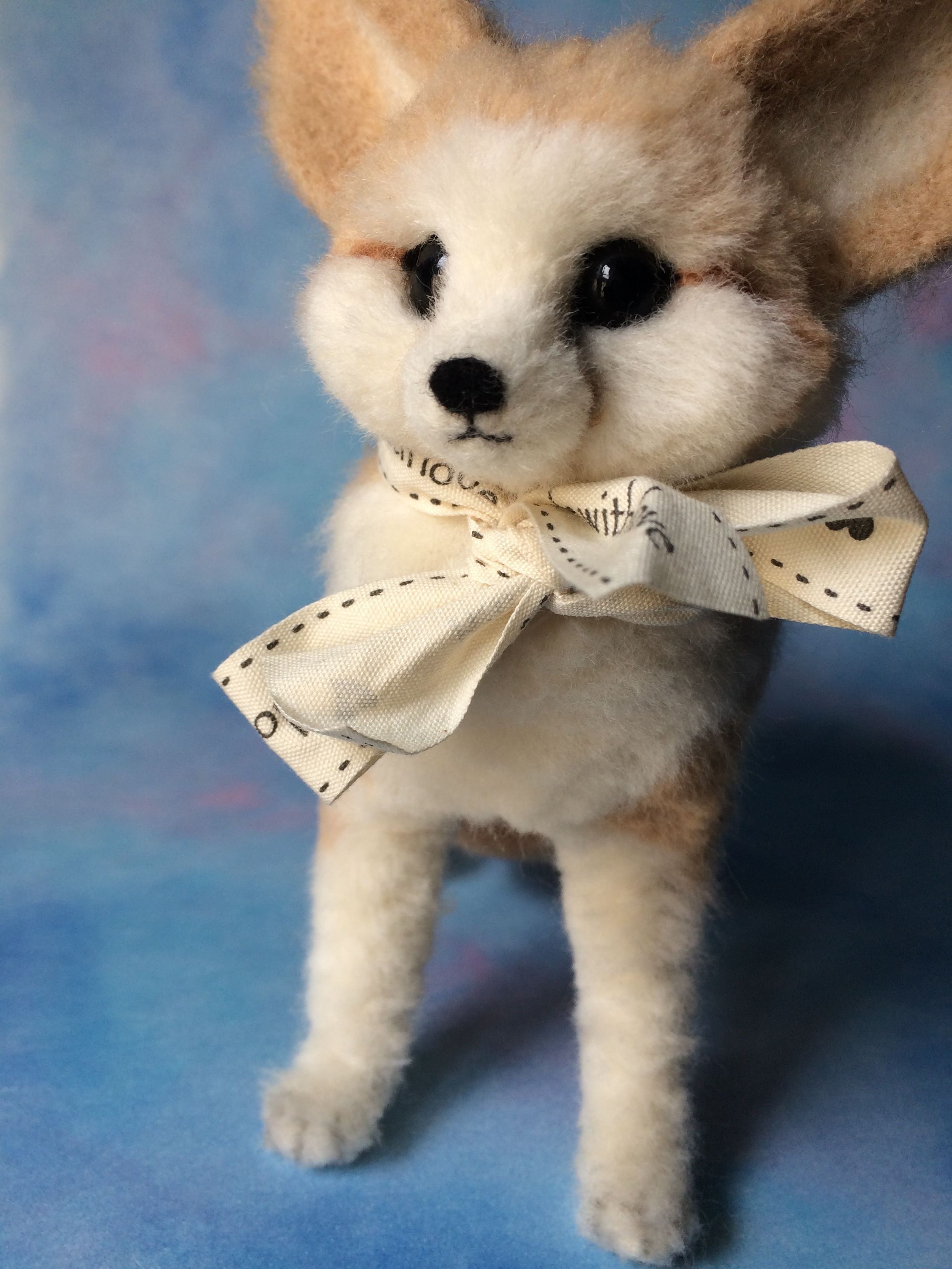 Needle Felted Fox By Saniamanicrafts Fennec Fox Needlefelting