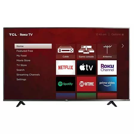 Tcl 50 Class 4k Ultra Hd Roku Smart Tv 50s433 Sam S Club In 2021 Smart Tv 32 Inch Tv Roku