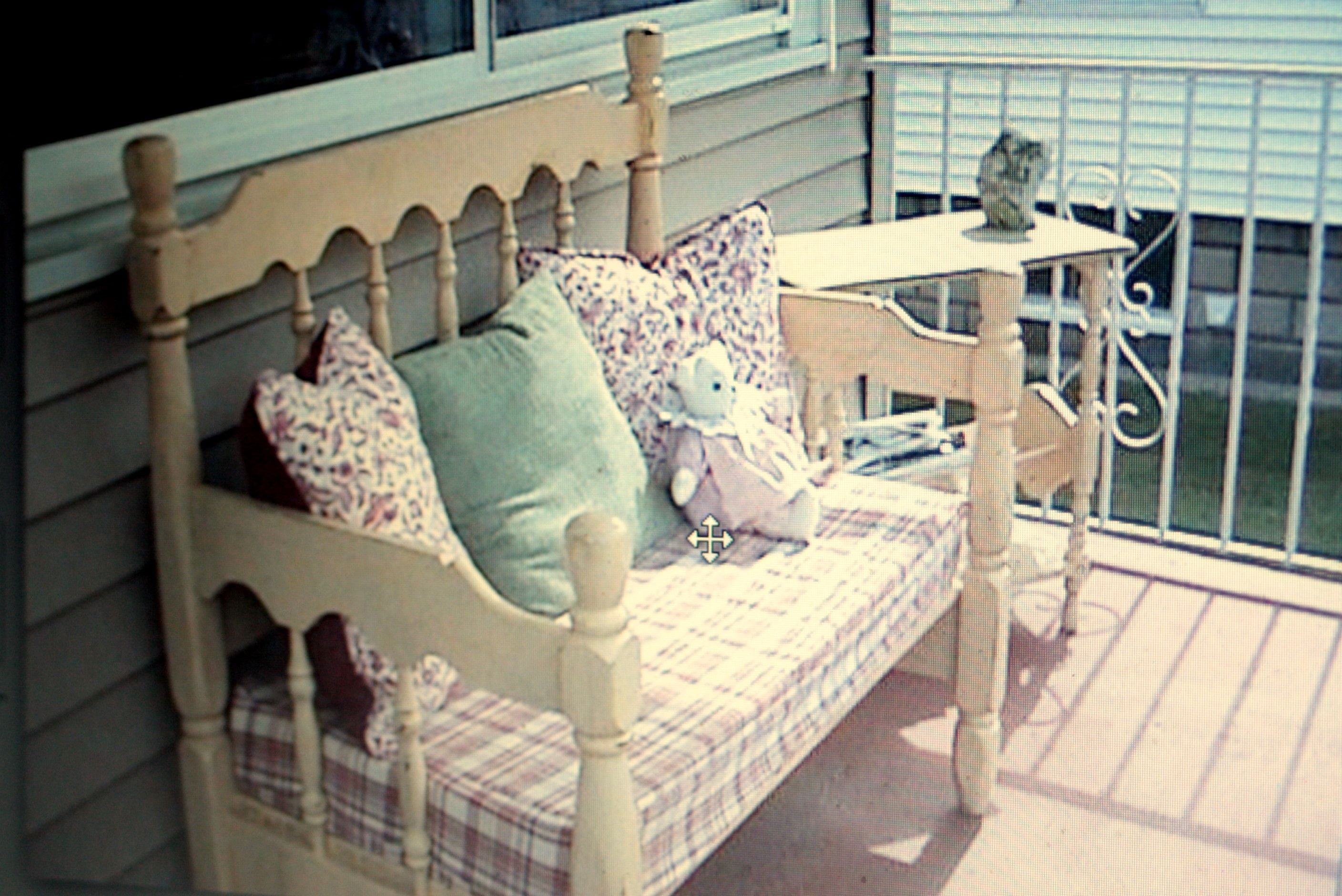 Bench Made Out Of A Twin Bed Headboard And Footboard