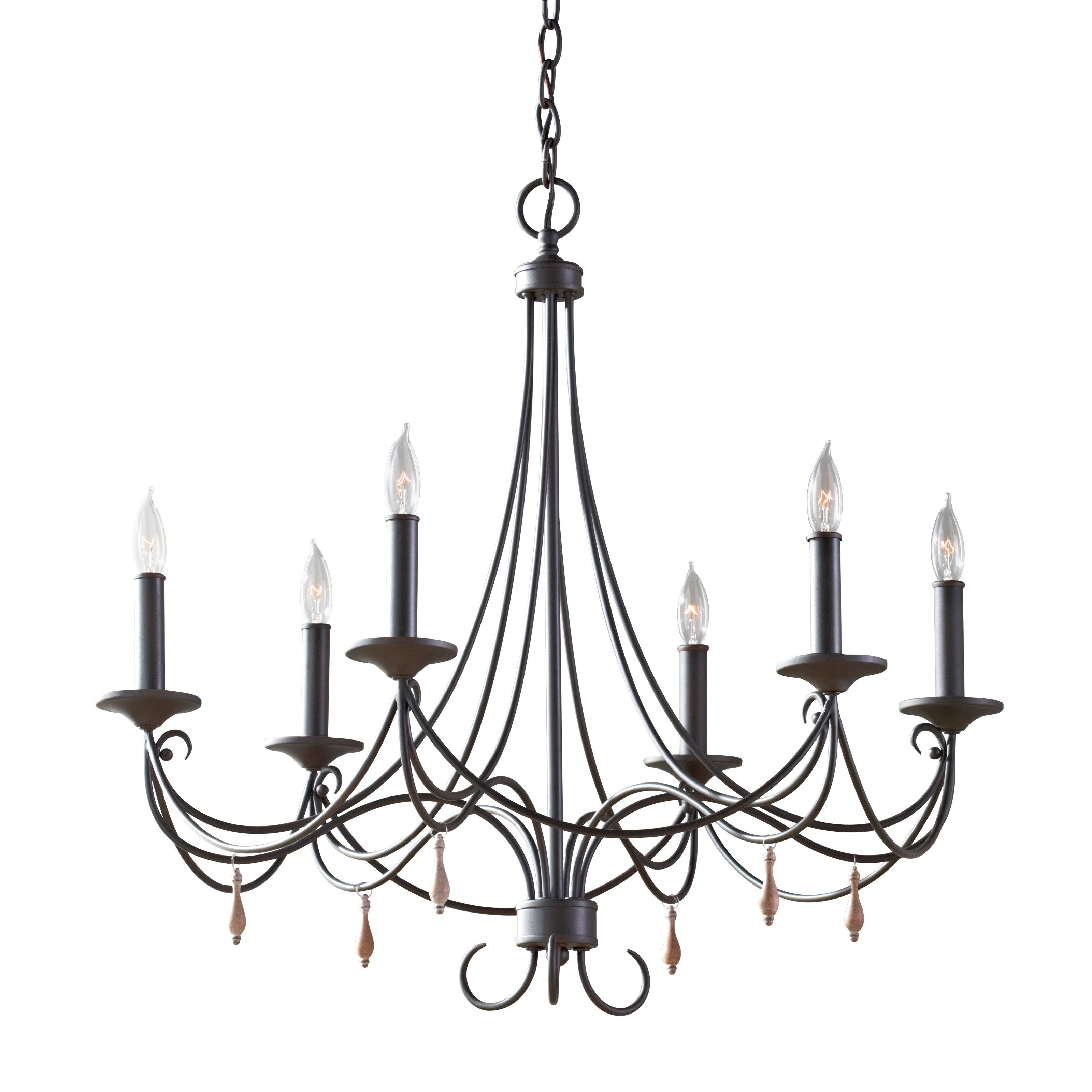 Have to have it Feiss Aliya Chandelier 27 75W in Rustic Iron
