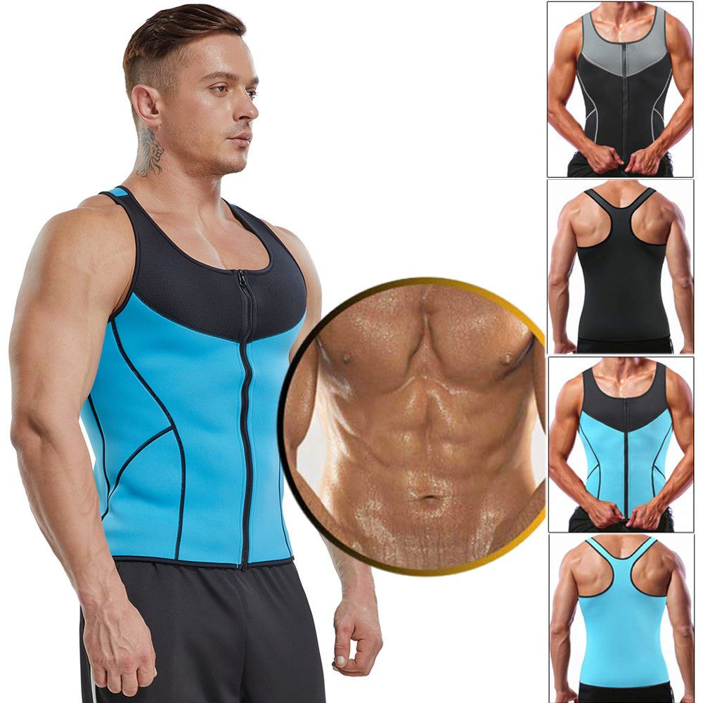 41648c57927 Men Waist Trainer Vest Sauna Sweat Body Shaper Tank Top Slimming Trimmer  Shirt  fashion  clothing  shoes  accessories  womensclothing   intimatessleep (ebay ...