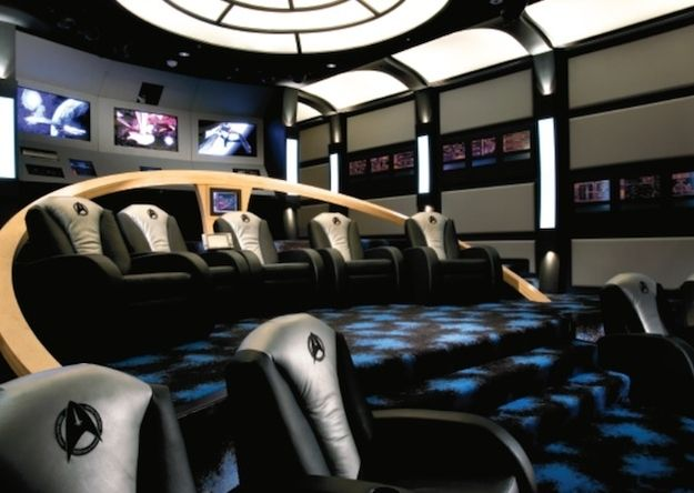 The Star Trek Themed Home Theatre At Home Movie Theater Home