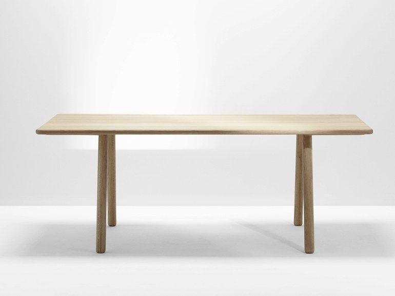 Tavolo Lotus ~ Tavolo da pranzo in legno massello curved table by h furniture