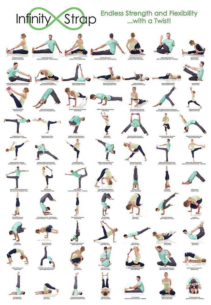 70 Strecken mit Infinity Straps - Yoga & Fitness  70 Strecken mit Infinity Straps,  #infinity #strap...