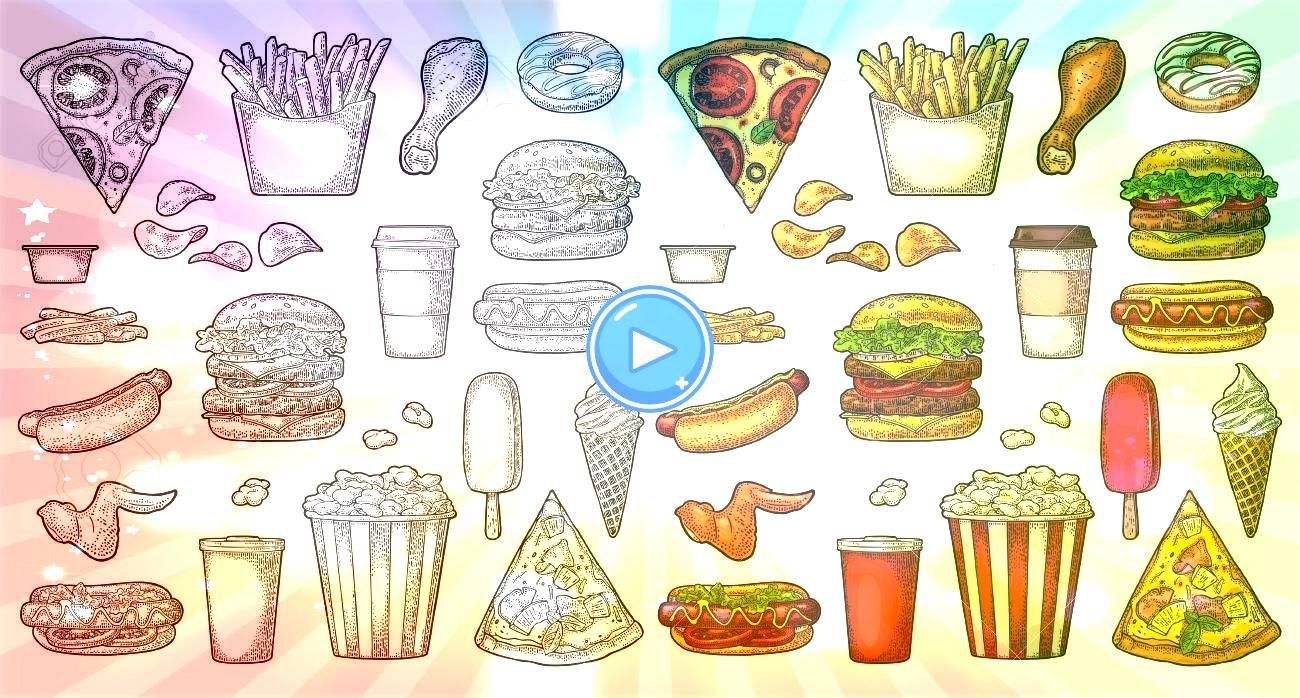 fast food Coffee hamburger pizza hotdog fry potato popcorn Set fast food Coffee hamburger pizza hotdog fry potato popcorn  42 trendy wall paper minimalist iphone white ba...