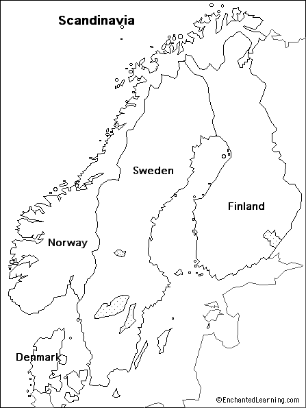 Outline Map Scandinavia Enchantedlearning Com In 2020 Sweden Map Europe Map Unique Maps