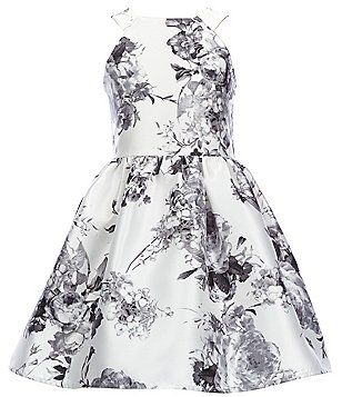 57a314c5a Poppies and Roses Big Girls 7-16 Sleeveless Floral-Print Dress ...