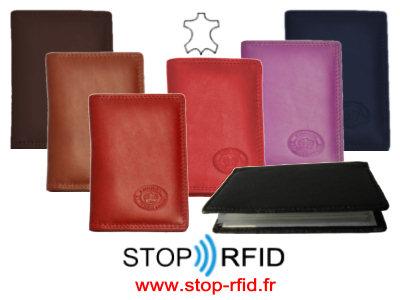 StopRfidfr Une Gamme De Pochettes étuis Porte Cartes Et - Porte cartes sécurisé protection rfid nfc