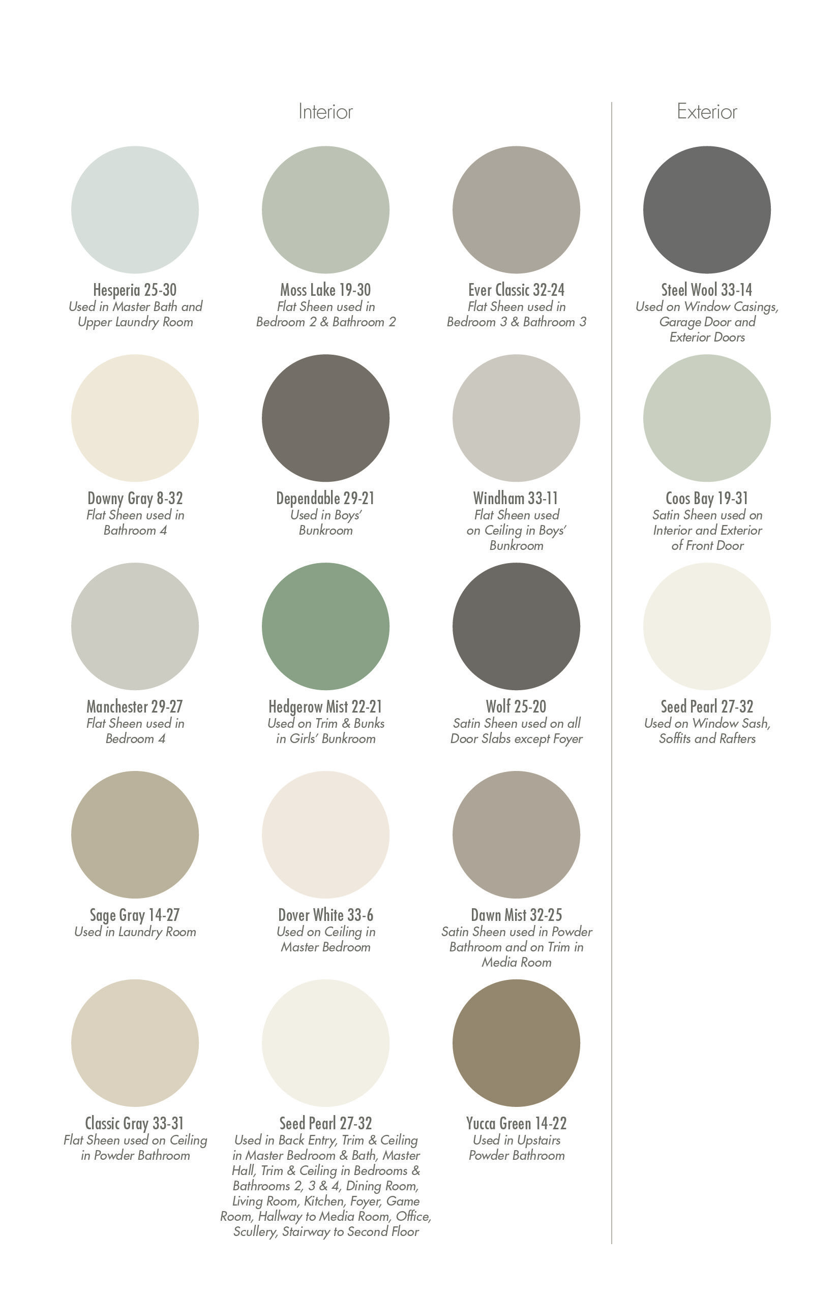 Color swatch pratt lambert beach house colors house for Oriental colour palette