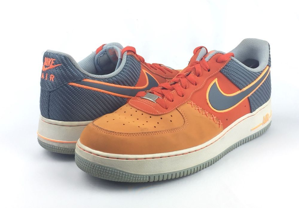 059c75fe66c7bd Nike Air Force 1 AF-1 82 Mens Orange Low Top Basketball Shoes Size 13  140   fashion  clothing  shoes  accessories  mensshoes  athleticshoes (ebay link)