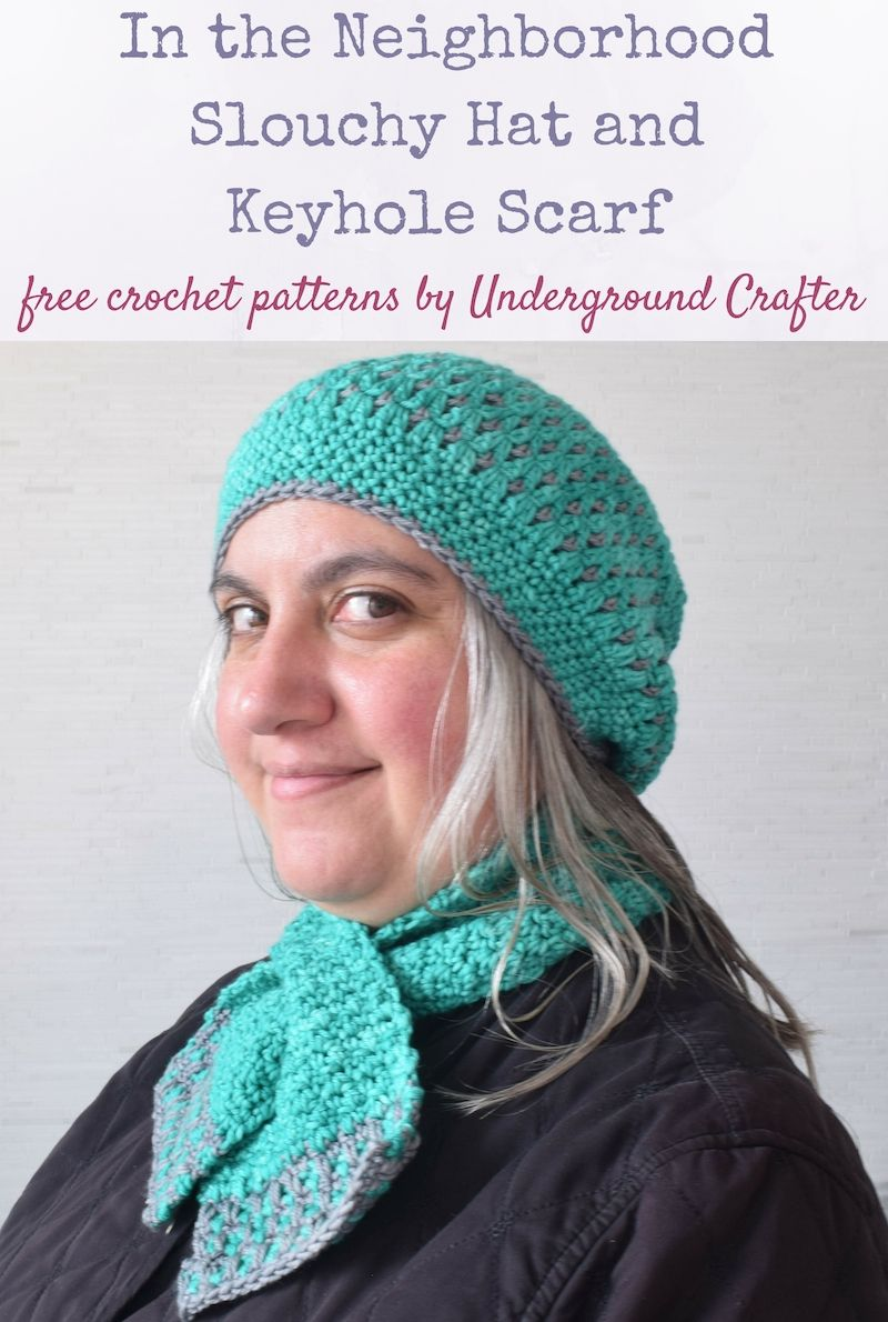 In the neighborhood slouchy hat and keyhole scarf free crochet in the neighborhood slouchy hat and keyhole scarf set free crochet patterns by underground crafter in neighborhood fiber co studio worsted via bankloansurffo Image collections