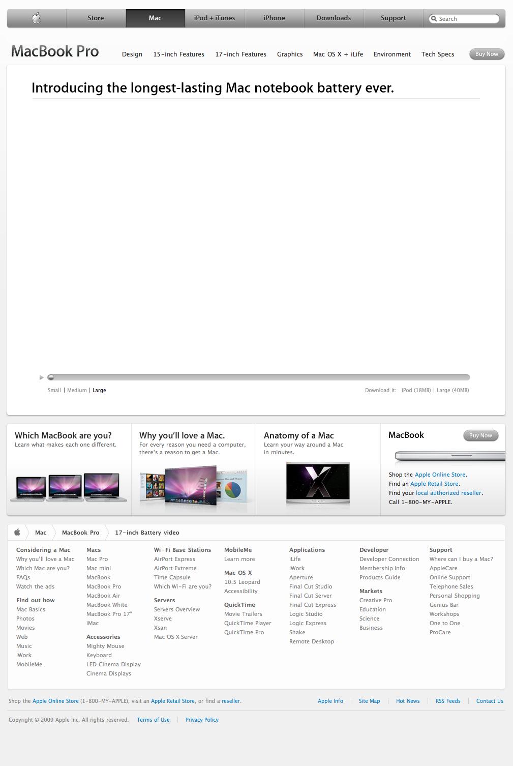 Apple - MacBook Pro - 17-inch Battery Video (07 01 2009