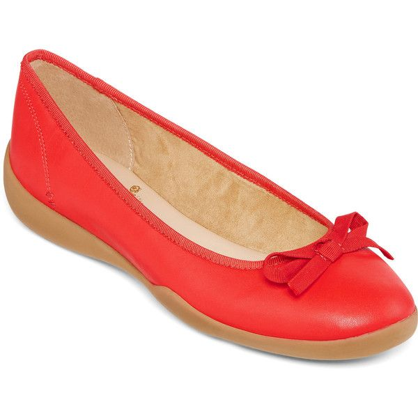 St. John's Bay Fiorella Ballet Flats ($30) ❤ liked on Polyvore featuring  shoes