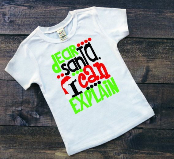 50a6d48e5c421 dear santa i can explain christmas shirt toddler santa t shirt boys and  girls holiday clothing
