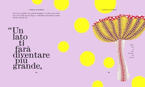 """Illustrazione tratta da """"Le avventure di Alice nel paese delle meraviglie attraverso l'arte di Yayoi Kusama"""" orecchioacerbo / Roma 2013"""