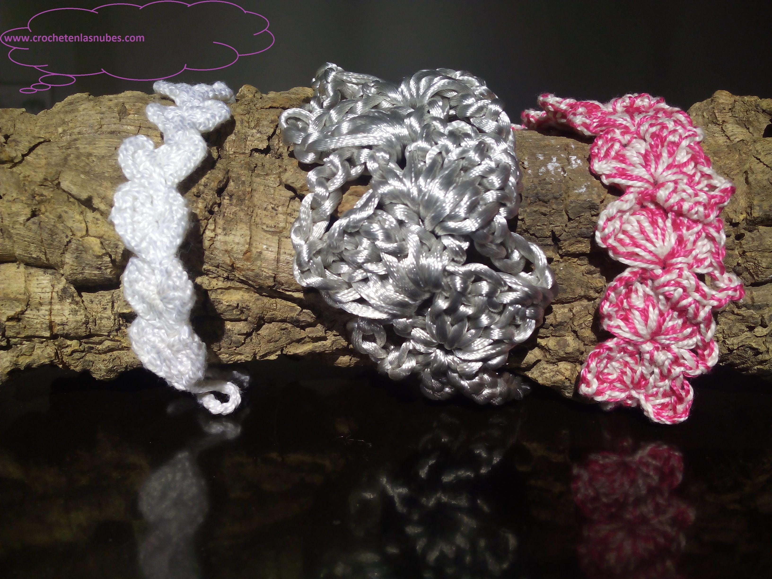 Pulseras www.crochetenlasnubes.com