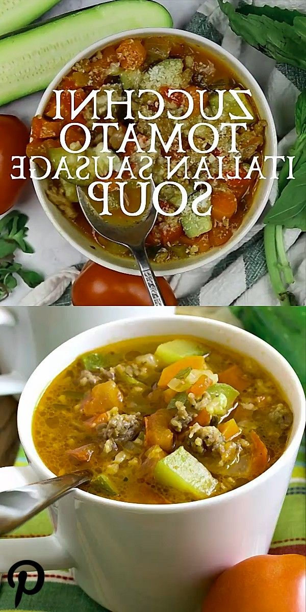 Zucchini Tomato Italian Sausage Soup This hummus is made with edamame instead of chickpeas for a twi Zucchini Tomato Italian Sausage Soup This hummus is made with edamame...