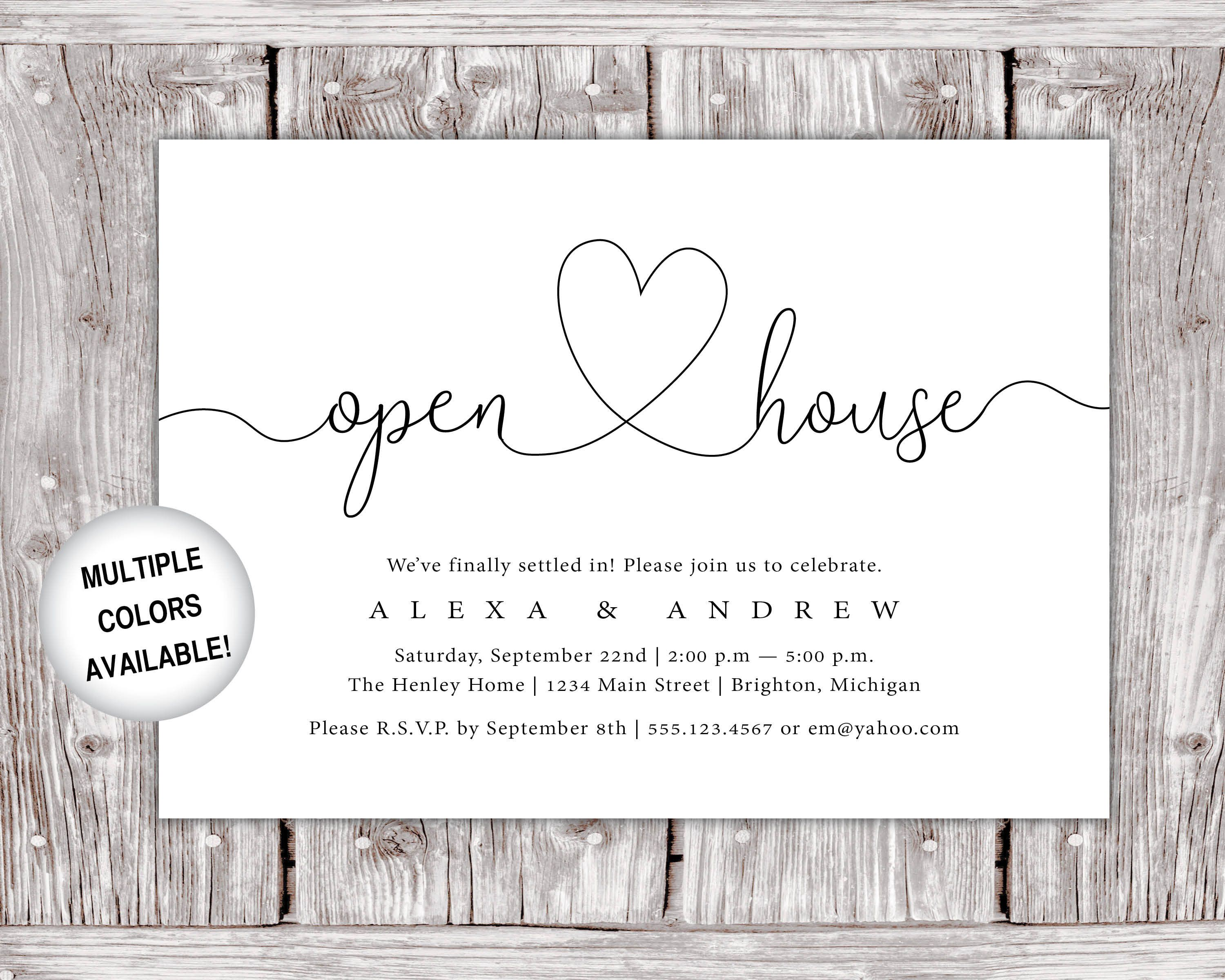 Printable Open House Invitation