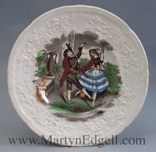Childs Plate With Dancers Circa 1840 More Available From Www Martynedgell Com Plates Decorative Plates Antiques