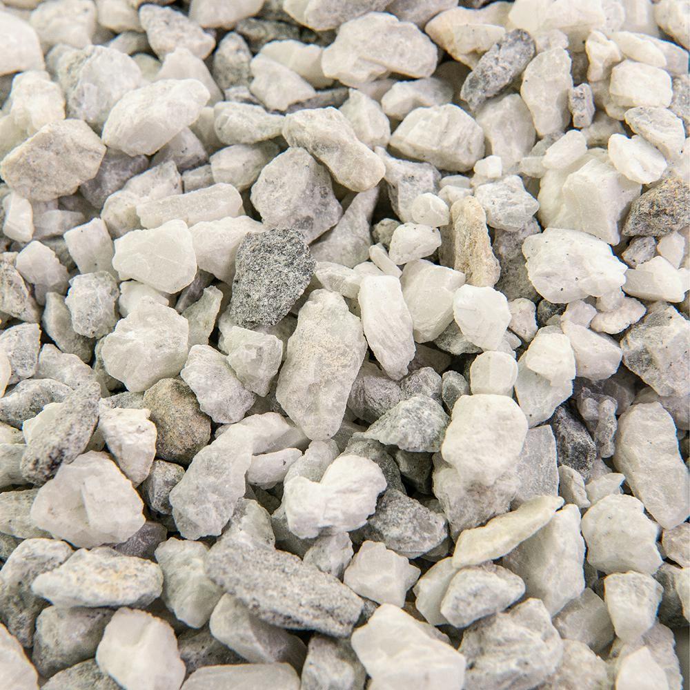 Southwest Boulder Stone 25 Cu Ft 3 8 In White Ice Bulk Landscape Rock And Pebble For Gardening Landsc In 2020 Landscape Rock Pebble Garden Landscaping With Rocks