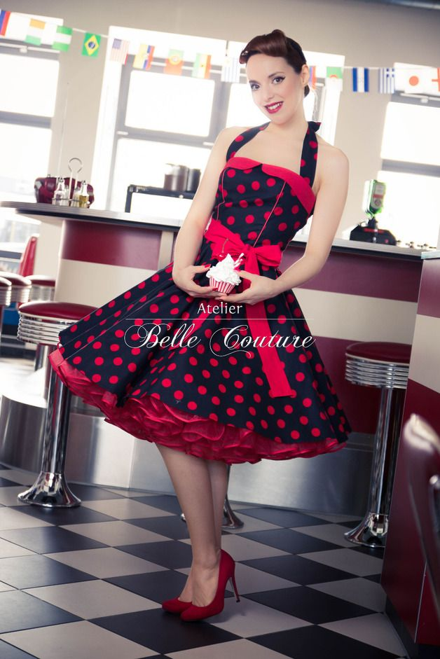 50er jahre rockabilly petticoat kleid mein kleiderschrank pinterest retro vestiditos y. Black Bedroom Furniture Sets. Home Design Ideas