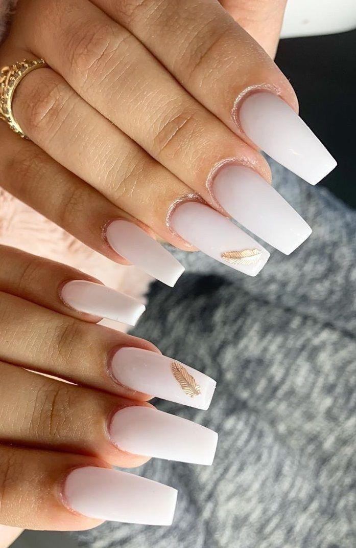Trendy White Acrylic Nails Designs Di 2020