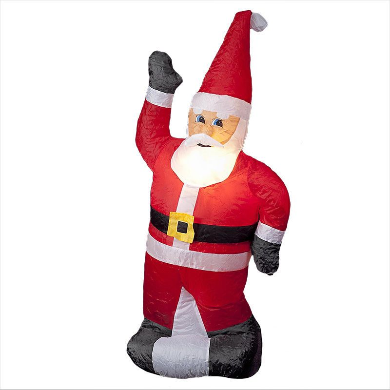 illuminated inflatable standing 4 foot santa blow up christmas decoration cheery blowupchristmasdecorations