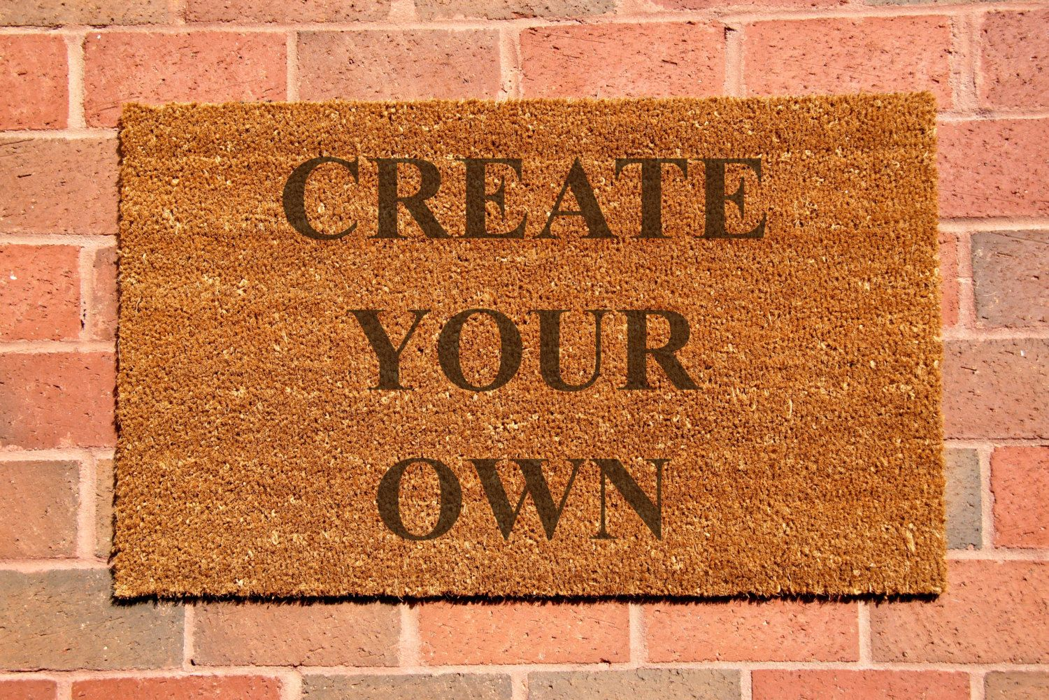 Custom laser engraved door mat personalized welcome mat welcome mat natural coco fiber coir mat custom door mat create your own 34 99 usd by claybyrnemat