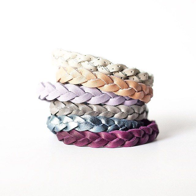 Simple + eye catching braided leather bracelets handmade by @flourishleatherco. I'll take them all, please!  Shop Here: www.flourishleatherco.com  #flourishleatherco #bracelets #handmadejewelry #supporthandmade #handmadeloves