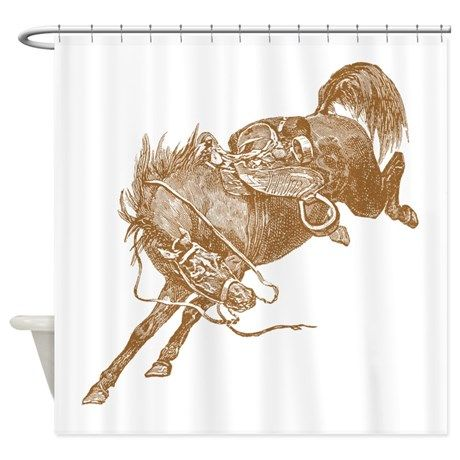 Brown Bronco Shower Curtain On CafePress