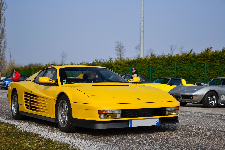 Yellow Ferrari Testarossa | Ferrari Testarossa | Pinterest | Ferrari