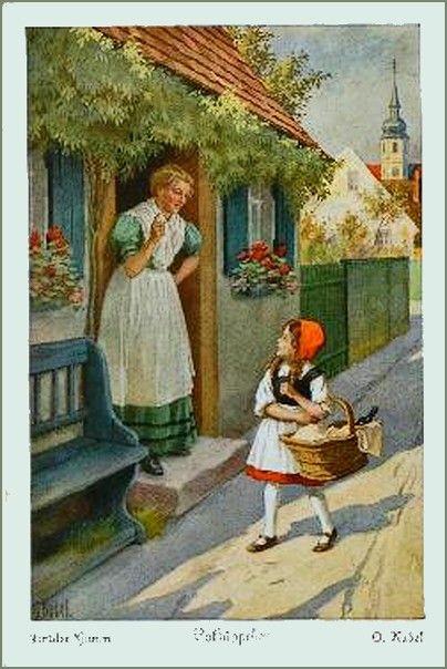 Rotkäppchen-Postkarten um 1925 (1)