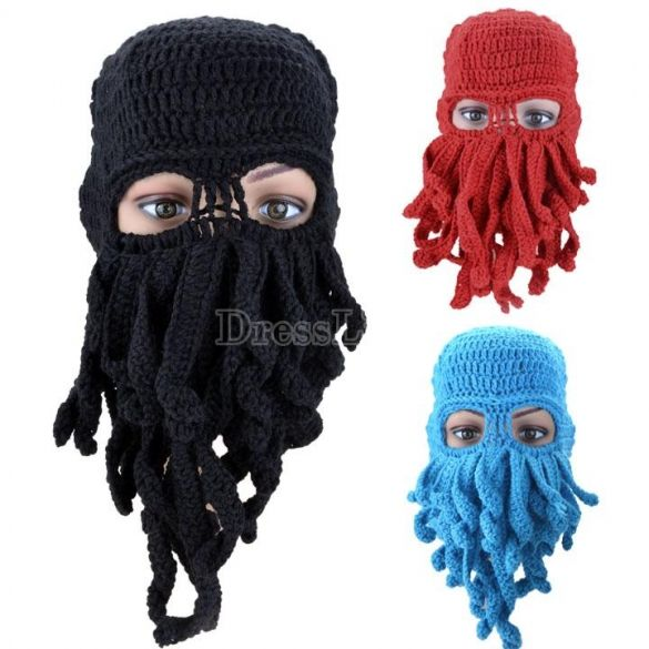 Winter Octopus Hat Caps For Those Sub 0 Weather Days Nights Or Cthulhu Worshipers Beard Winter Handmade Knitting Knitting Wool