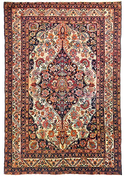 Image Of 17th Century Silk Kerman Persian Carpet Fancy