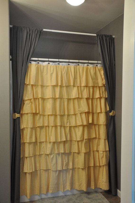 Accent Shower Curtain By Jamilyn2210 On Etsy 20 00 Ruffle