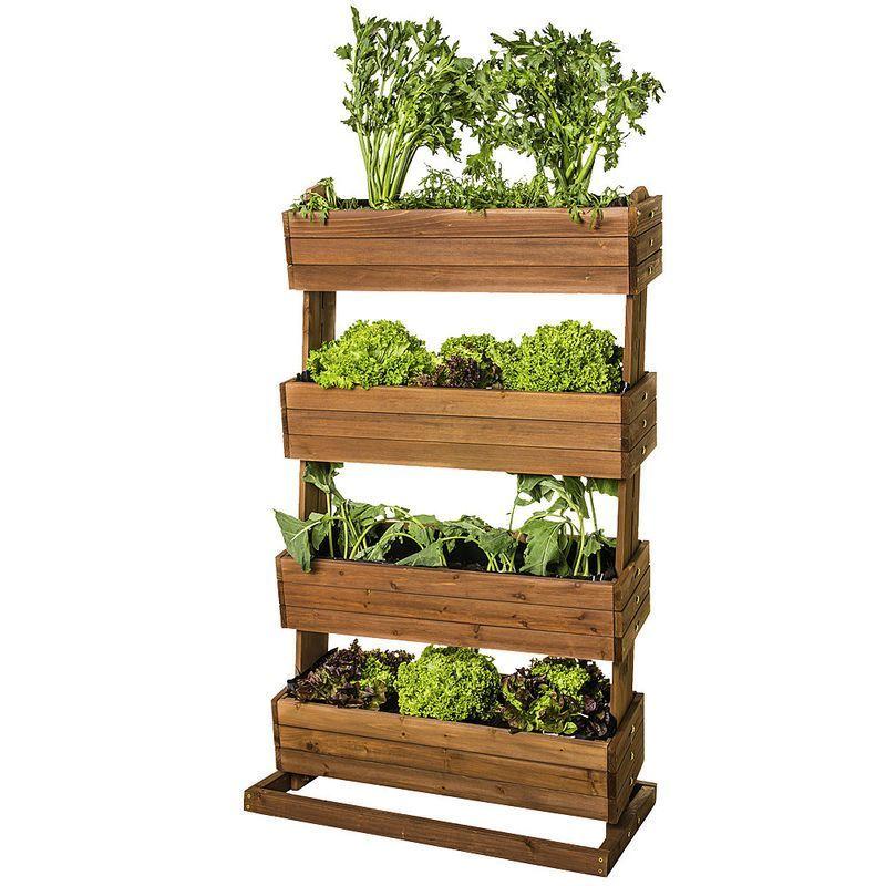 Vertical Planter Hochbeet Mit Pflanzkasten Kuchengarten Auf Kleinstem Raum In 2020 Portable Garden Vertical Garden Planters Urban Gardening Balcony