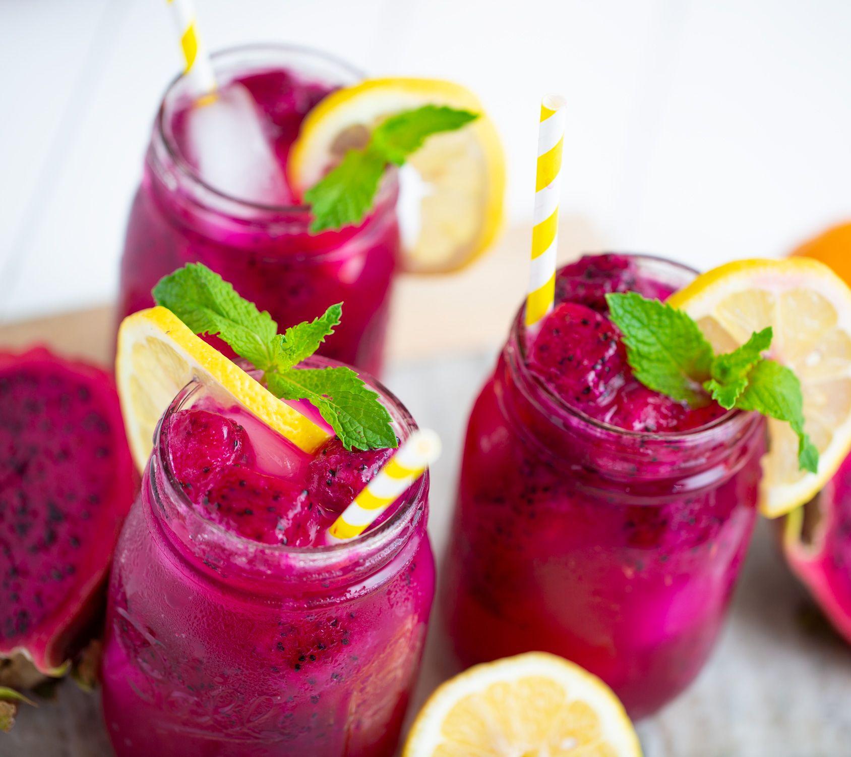 Lemonade dragon spritzer spritzer recipes dragon fruit