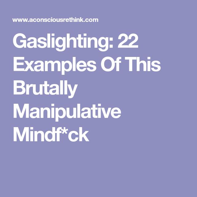 Examples manipulative behavior