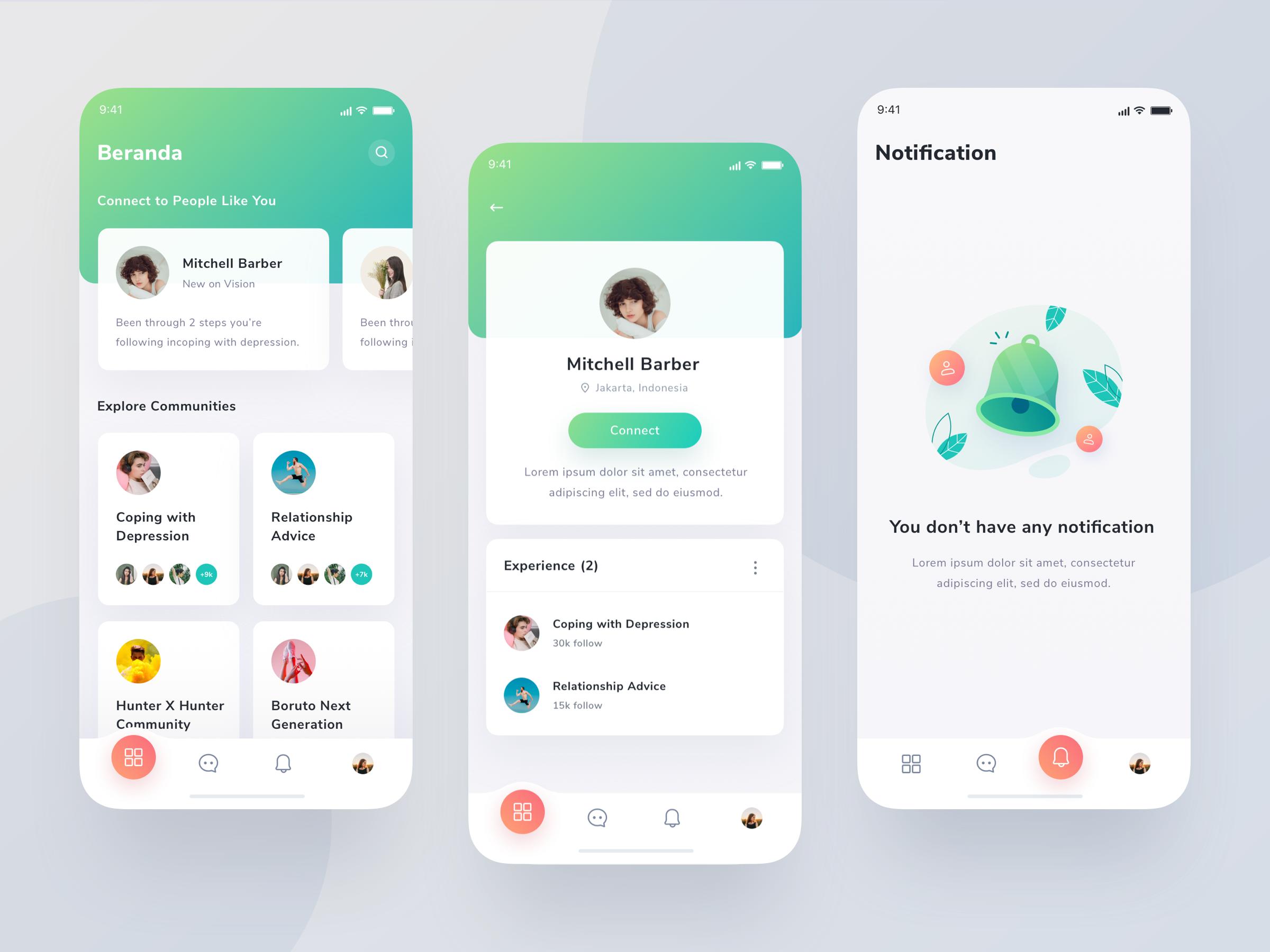 Community App Exploration App Interface Design Ios App Design Medical App