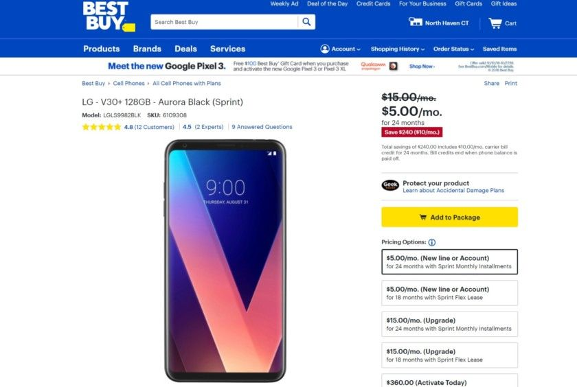 Deal The Lg V30 Plus Is Going For As Low As 120 But Only On