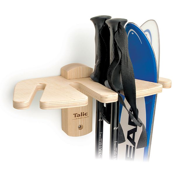Garage Ideas · An Attractive Way To Stash Your Skis And Poles. This Ski  Storage Rack Mounts To