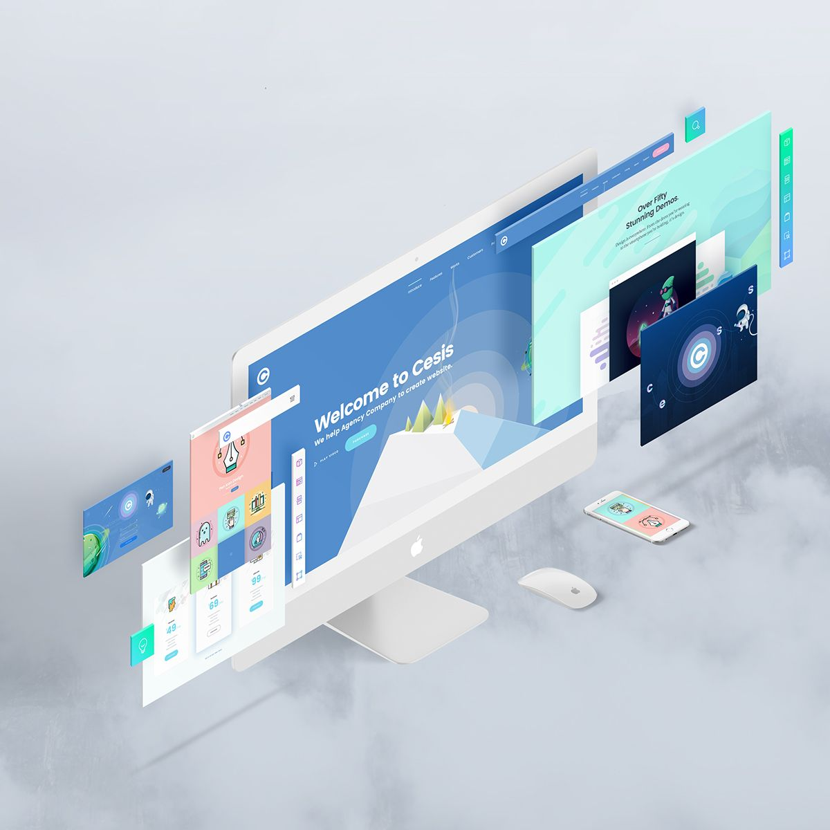 the screens free perspective psd mockup template interaction