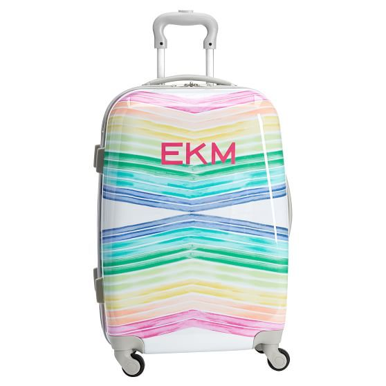 Hard Sided Rainbow Chevron Carry On Spinner With Images