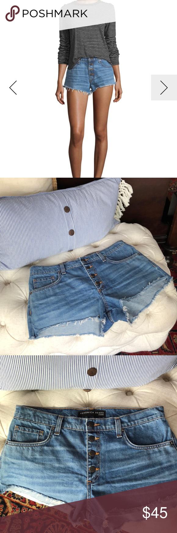 Veronica Beard Jean shorts New !! Never worn denim Cutoffs . So cute stylish. Button fly.  High waisted. Current sold Out!! Veronica Beard Shorts Jean Shorts #denimcutoffshorts