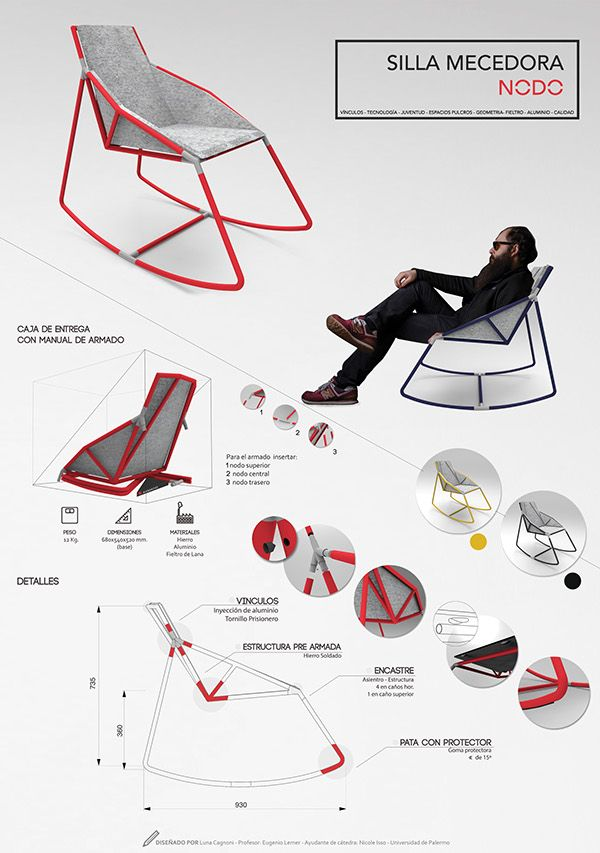Furniture Design Poster product design presentation board. nice and simple and clean