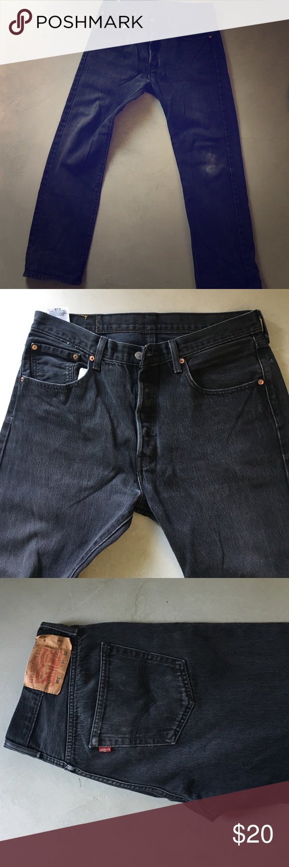 501's Levi's Faded black 501's Levi's Jeans Straight
